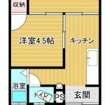間取:2K(洋6・洋4.5)(間取)