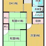3DK(DK5・和室6・和室4.5・洋室6)(間取)
