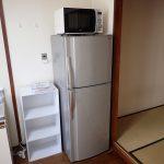 冷蔵庫・電子レンジ・棚